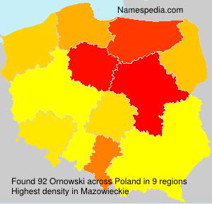 Surname Ornowski in Poland