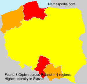 Surname Orpich in Poland