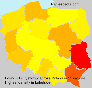 Familiennamen Oryszczak - Poland
