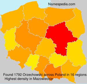 Surname Orzechowski in Poland