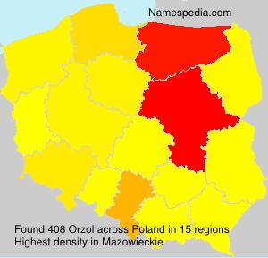 Familiennamen Orzol - Poland