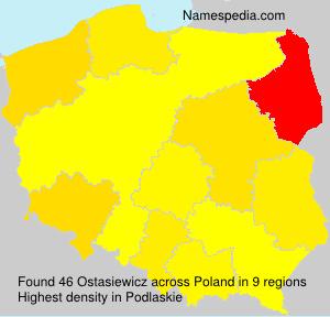 Surname Ostasiewicz in Poland