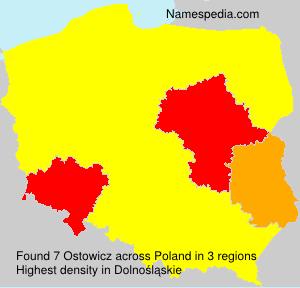 Familiennamen Ostowicz - Poland