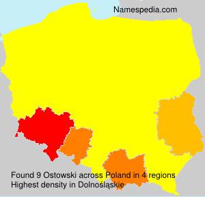 Surname Ostowski in Poland