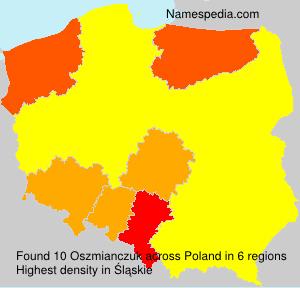 Familiennamen Oszmianczuk - Poland