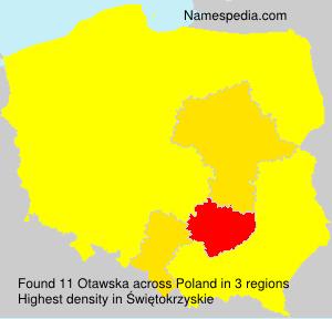 Surname Otawska in Poland