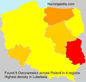 Surname Owczarewicz in Poland