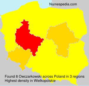 Surname Owczarkowski in Poland