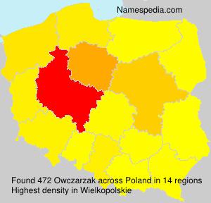 Surname Owczarzak in Poland