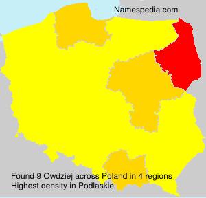 Surname Owdziej in Poland
