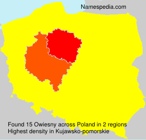 Surname Owiesny in Poland