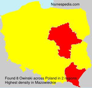 Surname Owinski in Poland