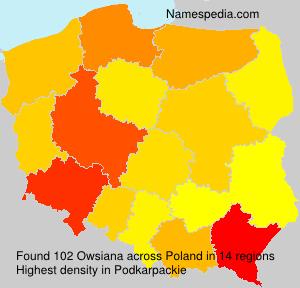 Surname Owsiana in Poland