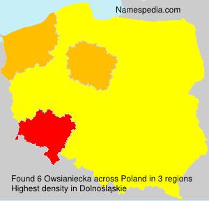 Surname Owsianiecka in Poland