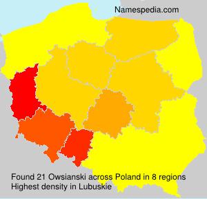 Familiennamen Owsianski - Poland
