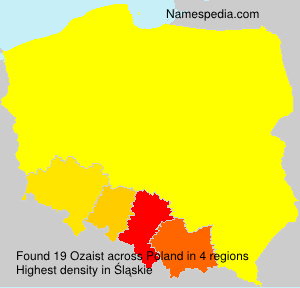 Surname Ozaist in Poland