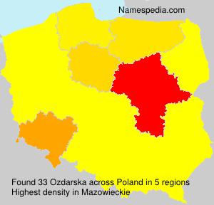 Surname Ozdarska in Poland