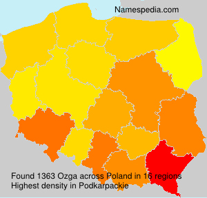 Surname Ozga in Poland