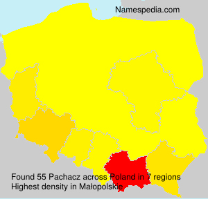 Surname Pachacz in Poland