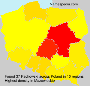 Surname Pachowski in Poland