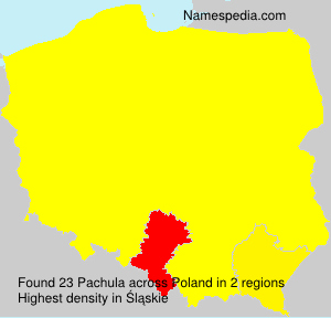 Surname Pachula in Poland