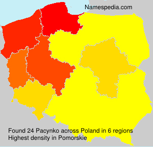 Surname Pacynko in Poland
