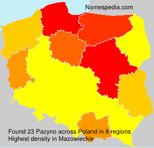 Surname Pacyno in Poland