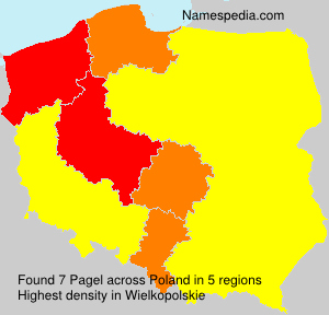 Surname Pagel in Poland