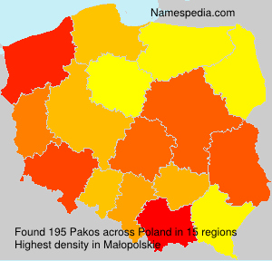 Surname Pakos in Poland
