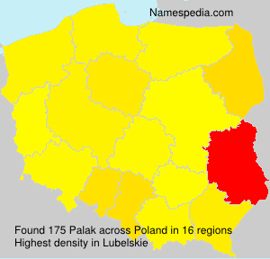 Surname Palak in Poland