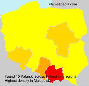 Surname Palarski in Poland