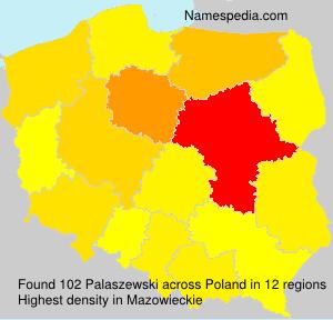 Surname Palaszewski in Poland