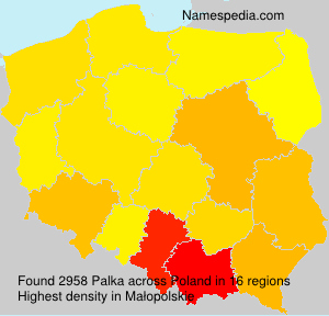 Surname Palka in Poland
