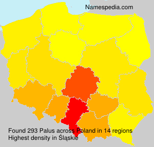 Surname Palus in Poland