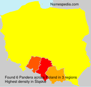Surname Pandera in Poland