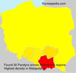 Familiennamen Pandyra - Poland