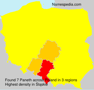 Surname Paneth in Poland