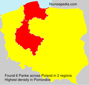 Surname Panke in Poland