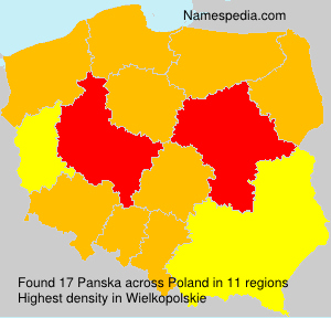 Surname Panska in Poland