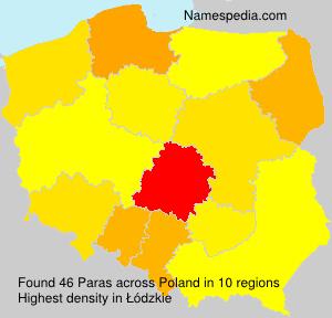 Surname Paras in Poland