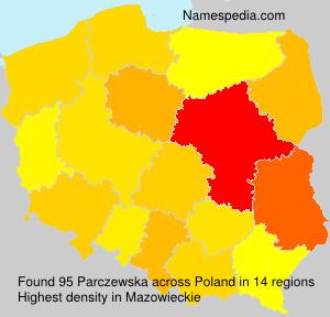 Surname Parczewska in Poland