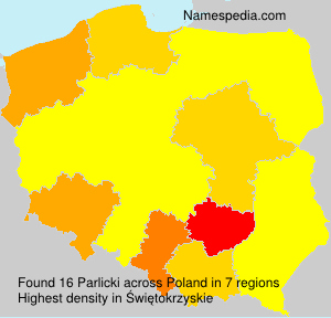 Familiennamen Parlicki - Poland