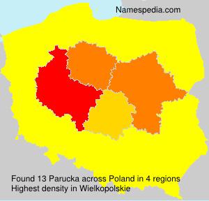 Familiennamen Parucka - Poland