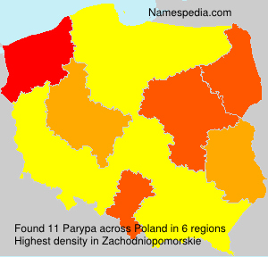 Surname Parypa in Poland