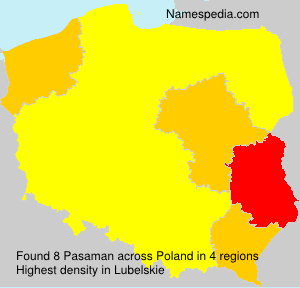 Surname Pasaman in Poland