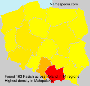 Surname Pasich in Poland