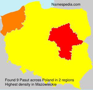 Surname Pasut in Poland
