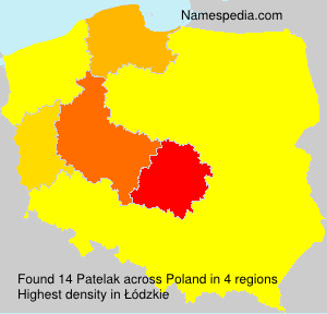 Surname Patelak in Poland
