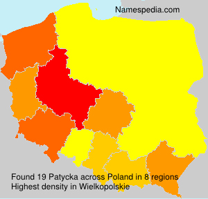 Surname Patycka in Poland
