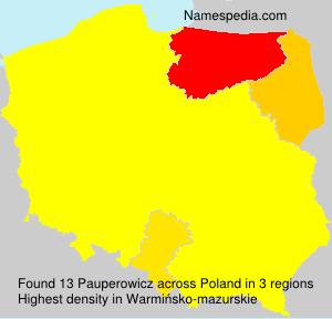 Familiennamen Pauperowicz - Poland